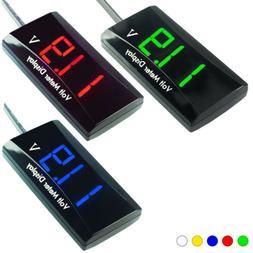 12V Digital LED Display Voltmeter Voltage Gauge Panel Meter