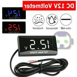 12v digital led display voltmeter voltage gauge