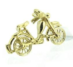 14k Yellow Gold Motorcycle Pendant