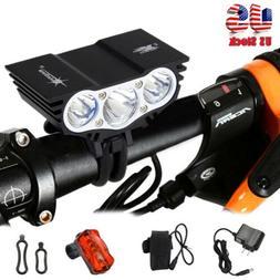 15000Lumen 3x T6 LED Head Headlamp Front Bicycle Bike Light