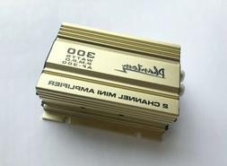 Gold PHANTOM 2-Channel 300 Watts Mini Amplifier for Car/Moto