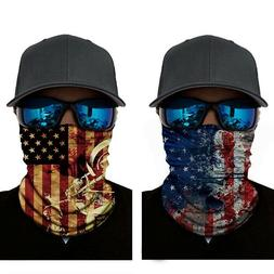 2pcs Sun Shield Mask Neck Gaiter Headband Bandana Du Rag Fis
