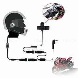 2PIN Helmet Motorcycle Race Headset Earpiece For Kenwood Bao