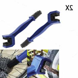 2X Cycling Bicycle Motorcycle Gear Grunge Brush Cleaner Blue