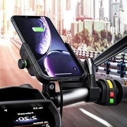360 rotation motorcycle phone holder mount charger