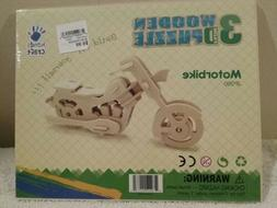 3D Wooden Puzzle - Motor Bike  -  by Hands Craft