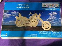3D Wooden puzzle - Motorcycle