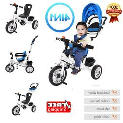 4 IN 1 Tricycle Bike Kids Ride On Toddler Child Stroll 'n Tr