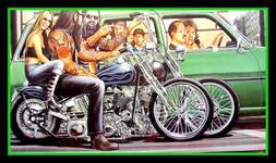 """5"""" Sunday Cruise vinyl sticker. USA Harley Davidson motorcyc"""