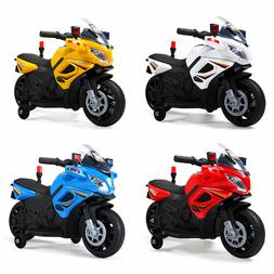 6V Kids Ride On Police Motorcycle Car Battery Powered w/4 Wh