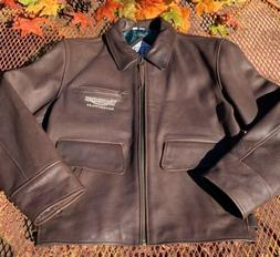 Triumph Authentic The Triple Collection Brown Leather Motorc