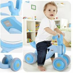 Baby First Bike 4 Wheels Balance Safe Toddler Bicycle No Ped
