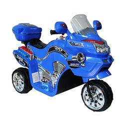 Blue Ride On Motorcycle Boy Toy Battery Powered Kids Vehicle