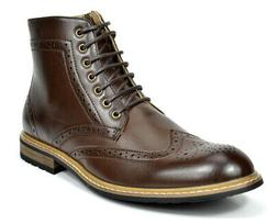 Bruno Marc Mens Lace Up Motorcycle Leather Chukka Boots Oxfo