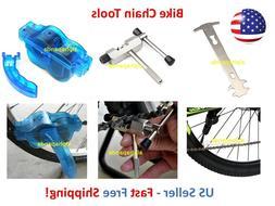 Bike Cycling Chain Tools Cleaner Wear Checker Breaker Cutter