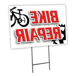 BIKE REPAIR Yard Sign & Stake outdoor plastic coroplast wind