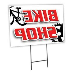 Bike Shop Yard Sign & Stake outdoor plastic coroplast window