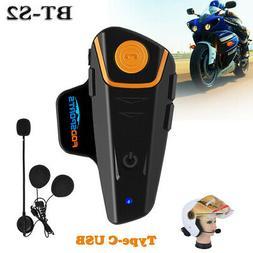 BT-S2 1000m 2 Way Radio Intercom Motorcycle Bluetooth Helmet