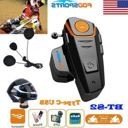 BT-S2 1000m 2Way Radio Bluetooth Motorcycle Helmet Headset I