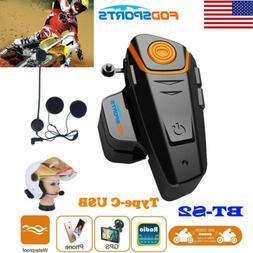 BT-S2 1000m 2Way Radio Intercom Motorcycle Bluetooth Helmet