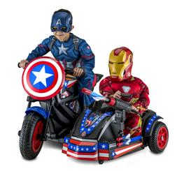 Captain America Motorcycle Sidecar Kid Ride-On Toy Rechargea