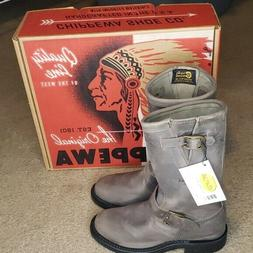 Chippewa Crazy Horse Boots sz 5.5 Ladies Gray Leather