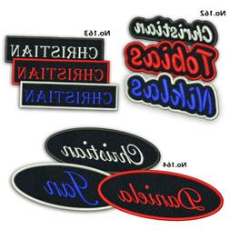 """Custom Embroidered Name Patch 5"""" Biker Motorcycle Badge Tag"""