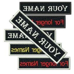 Custom Embroidered Patch Biker Motorcycle Badge Name Tag Ves