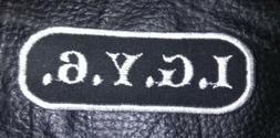 Custom motorcycle vest patch