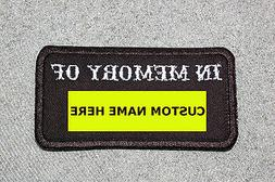 Customized IN MEMORY OF Patch, Biker Vest Motorcycle Patch,