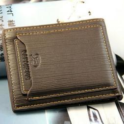 Fashion Men's Bifold Leather Wallet ID Credit Card Holder Bi