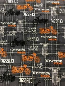 "Fat Quarter ~ MOTORCYCLE 100% Cotton Fabric 18""x21"""