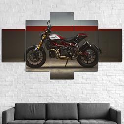 Indian FTR 1200 Motorcycle Biker Canvas Print Framed 5 Pcs W