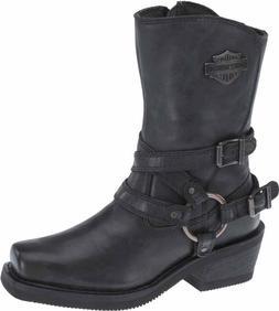 HARLEY-DAVIDSON FOOTWEAR Women's Ingleside Black Leather Mot