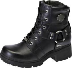 HARLEY-DAVIDSON FOOTWEAR Women's JOCELYN Black Leather Motor