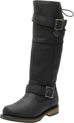 HARLEY-DAVIDSON FOOTWEAR Women's Kirtland Black Leather Moto