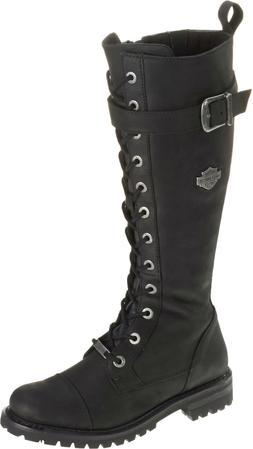 HARLEY-DAVIDSON FOOTWEAR Women's Savannah Tall Black Leather