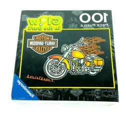 Harley Davidson Glow in Dark Kids Jigsaw Puzzle 100 Pieces M