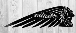 Indian Motorcycle Head Logo Steel/Metal Sign Laser cut decor