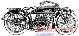 Deep Red Stamps Indian Motorcycle Rubber Cling Stamp