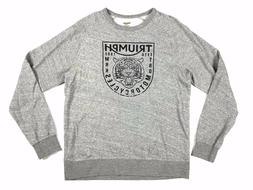 Lucky Brand Jeans Men L Grey/ Black Triumph Motorcycle Tiger