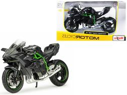 Kawasaki Ninja H2 R Black and Carbon 1/12 Diecast Motorcycle