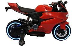 Kids Ride On Motorcycle Tron Bike LED Light Up Tires 12V Bat