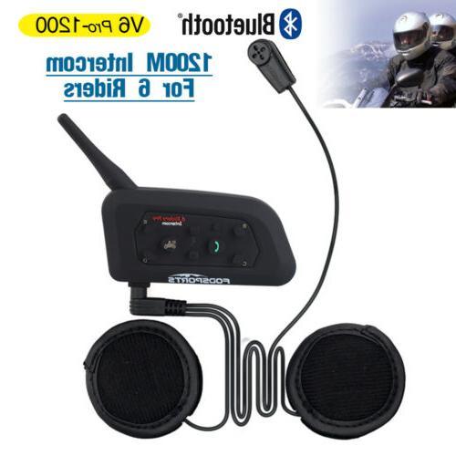 Motorcycle Intercom Helmet Headset Bluetooth 2Way GPS