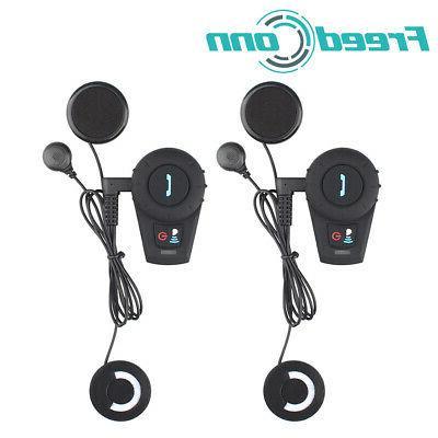 2pc 2Way Intercom Motorcycle Headset