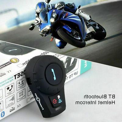 2pc Intercom Motorcycle Bluetooth Headset Interphone