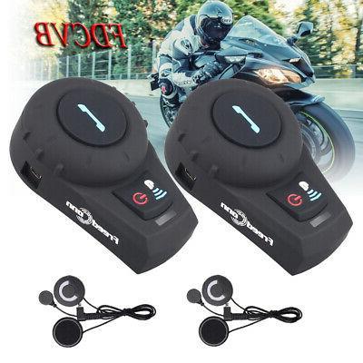 2pc 2way radio intercom motorcycle bluetooth helmet