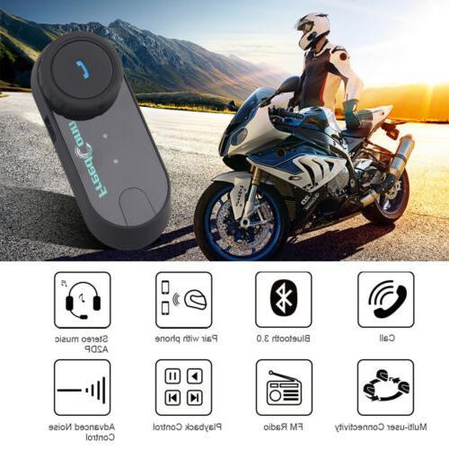 Freedconn 2Way Motorcycle Bluetooth Headset Interphone FM