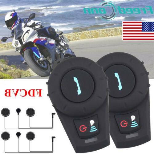 2x Motorcycle Bluetoot 500m Talkie