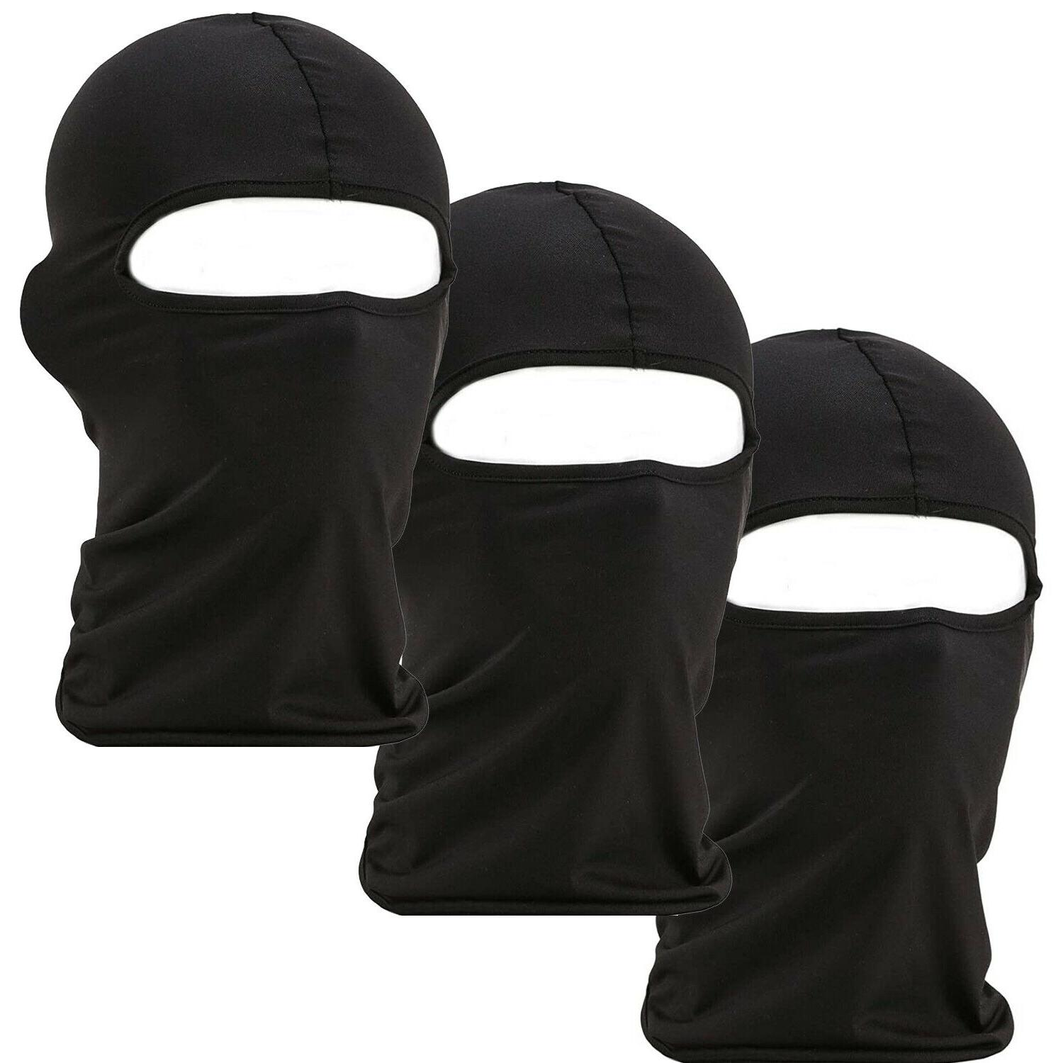 3 pack men balaclava black face mask